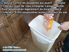 Poubelle Qui Sent Mauvais ? L'Astuce Pour la Désodoriser avec du Bicarbonate.