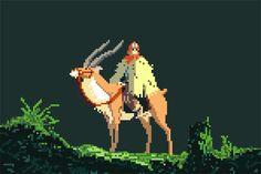 8-Bit Ghibli Fan Art by Richard Evans