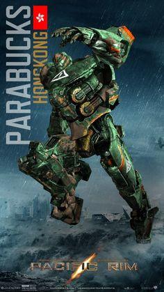 Pacific Rim (2013) Parabucks / Hong Kong Big Robots, Cool Robots, Pacific Rim Movie, Pacific Rim Jaeger, Cyberpunk, Transformers, Hongkong, Armadura Medieval, Mundo Comic