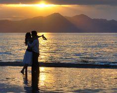 engagements, beach wedding