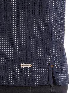 Peerson fashion fit geo dot print polo shirt