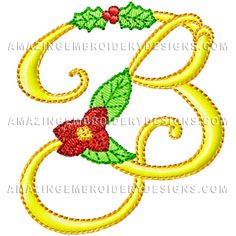 Free Embroidery Design: Letter B
