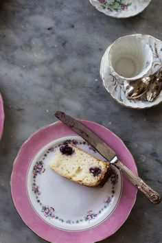 Yogurt, Blackberry and Rose Cake - From My Dining Table by Skye McAlpine