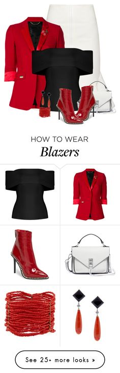 """Black, Red, & White *Outfit Only*"" by majezy on Polyvore featuring Givenchy, Philipp Plein, Rebecca Minkoff, Jeffrey Campbell, Berry and Pampillonia"