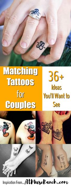 Matching Tattoos for Couples - Meaningful tattoos are a beautiful way to show your bond and commitment. Here are the best couple tattoo ideas I've rounded up that definitely show the love…