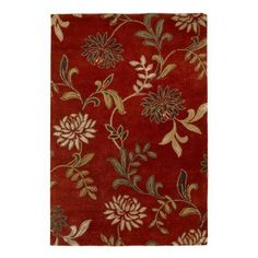 Kas Rugs Perfect Flowers Red 5 ft. x 8 ft. Area Rug-FLO45625X8 - The Home Depot