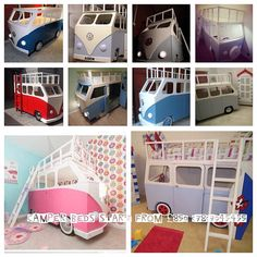VW style campervan bunk bed by Dreamcraftfurniture on Etsy, £880.00