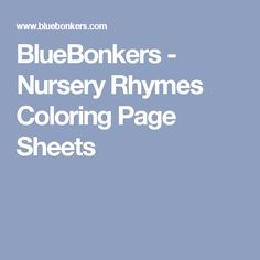 Time To Rhyme FREE Nursery And Rhyming Printables