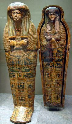Inner Coffin and Innermost Lid of Tabakmut, Third Intermediate Period, 21st Dynasty, reign of Psusennes II, ca. 1000–945 BC, Thebes, Upper Egypt; Deir el-Bahri, Tomb MMA 60, Chamber, burial 2.