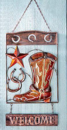 Cowboy Boot Wall Art