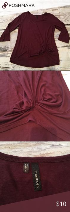 Maurices Large knotted shirt Ships fast! Smoke free home! Maurices Tops Blouses