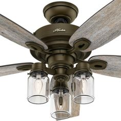52 Quot Edison Rustic Ceiling Fan W Industrial Cage Light
