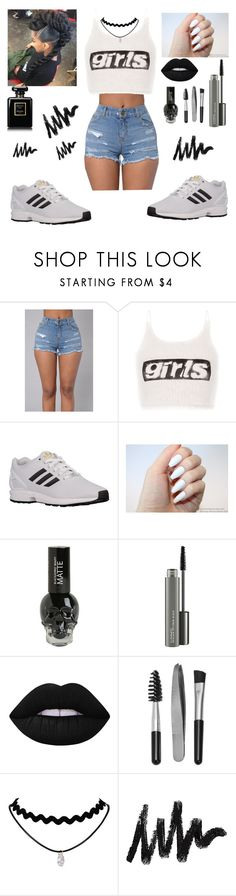 """""""🙅🙅"""" by dearblackgirl ❤ liked on Polyvore featuring Alexander Wang, adidas Originals, MAC Cosmetics, Lime Crime and Sephora Collection"""
