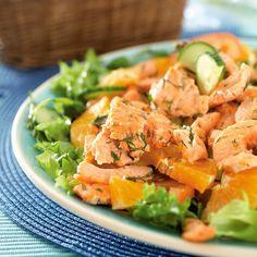 Kirjolohi-sitrussalaatti