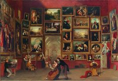 "My all time favorite painting. Samuel Morse ""The Gallery of the Louvre"""