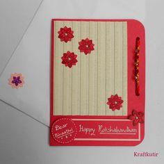 Rakshabandhan card ..  Indian handmade by Kraftkutir