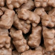 Chocolate covered gummy bears. One of the greatest inventions ever!