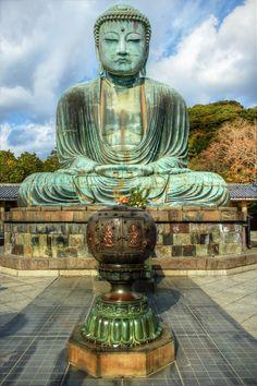 Daibutsu (Big Buddha) in Kamakura, Japan (an hour south of Tokyo) built c.1252