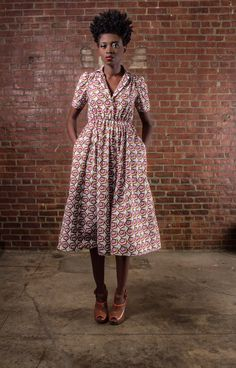 NEW The Portia Dress African Print 100 Holland by DemestiksNewYork, $170.00