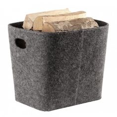 Houtmand Vilt Grijs - Alle houtmanden op Haardshop | Haardshop