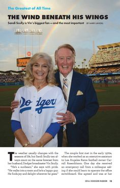 Sandi Scully: The wind beneath Vin's wings « Dodger Insider