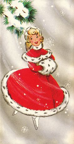 Vintage 1960s  Happy Holidays Christmas  Greetings Card