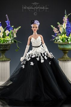 ©2016 Inside The Fashion Doll Studio The Black and White Ball Gown