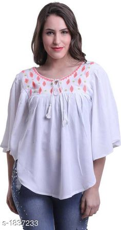 Capes, Shrugs & Ponchos Fabulous Rayon Cotton Embroidery Women's Poncho  *Fabric* Rayon Cotton  *Sleeves* Sleeves Are Included    *Size* S - 36 in, M - 38 in, L - 40 in, XL - 42 in  *Length* Up To 24 in  *Type* Stitched  *Description* It Has 1 Piece Of Women's Poncho  *Work* Embroidery  *Sizes Available* S, M, L, XL *   Catalog Rating: ★4 (249)  Catalog Name: Free Mask Trendyfrog Rayon Cotton Embroidery Women'S Ponchos Vol 1 CatalogID_241667 C79-SC1024 Code: 462-1837233-