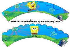 Making My Party!: Bob Sponja - Complete Kit with frames for invitations, labels for goodies, souvenirs and pictures!