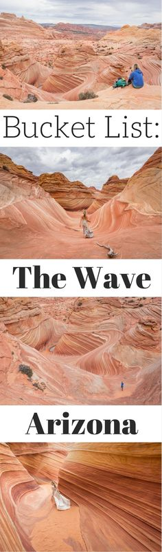 Hiking to The Wave in Arizona. Everything you need to know about the permit process and the hike in Coyote Buttes North. by Wandering Wheatleys (@wanderingwheatleys) #TheWave #Arizona #Utah #USA #hiking #bucketlist