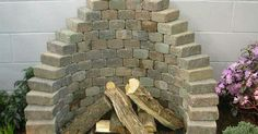 Paver fireplace | Landscaping | Pinterest | Fireplaces, Unique and Home renovations
