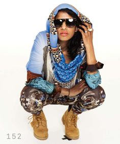 M.I.A--this woman has awesome style. She goes a little overboard but as a performer that's kind of the bar.