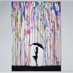 Trademark Fine Art 'Persephone' Canvas Art by Marc Allante, Black Persephone, Contemporary Decorative Art, Modern Contemporary, Umbrella Painting, Umbrella Art, Canvas Wall Art, Canvas Prints, Painting Prints, Art Prints