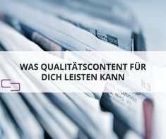 Content Quality ist