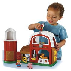 World of Little People Touch and Feel Farm Have lots of fun on the farm with this playset, includes Farmer Jed and four touch and play animals with lots of farmyard sound! Activities include drop through silo, pop up surprise and peek-a-boo do http://www.comparestoreprices.co.uk/childs-toys/world-of-little-people-touch-and-feel-farm.asp