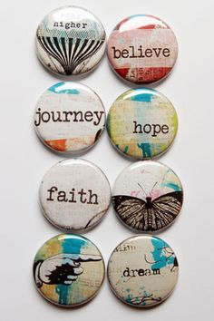 Lovely Words 2 by aflairforbuttons on Etsy, $6.00  #flair #aflairforbuttons #flairbuttons