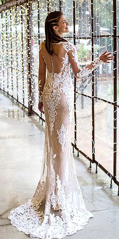 wedding dresses with illusion lace 2