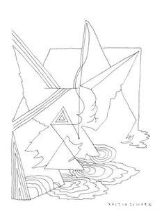 "Saatchi Art Artist Donald Lee; Drawing, ""Landscape by the sea (Mind Forms Line Art - 201710211109)"" #art"
