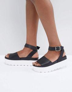 8051f21db54cd0 Park Lane Flatform Sandals at asos.com