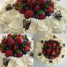 Sommerkage med friske bær Heavenly, Cheesecake, Cakes, Healthy, Food, Food Cakes, Meal, Cheese Cakes, Cake