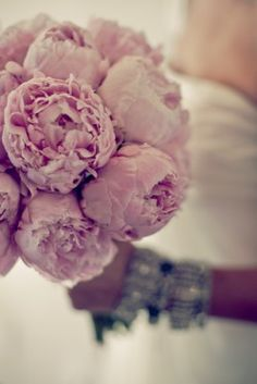 blush peony bouquet - Gorgeous!  Love the bracelet too!  :)