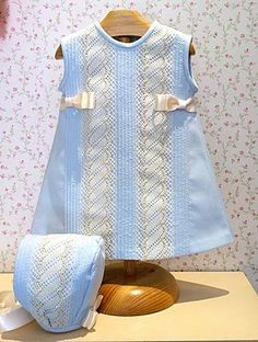 Baby Girl Fashion, Kids Fashion, Little Girl Dresses, Girls Dresses, Toddler Outfits, Kids Outfits, Spanish Baby Clothes, Frocks For Girls, Baby Sewing