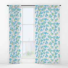 """Your drapes don't have to be so drab. Our awesome Window Curtains transform a neglected essential into an awesome statement piece. Featuring a single-sided print with a reverse white side.     - Dimensions: 50"""" (W) x 84"""" (H)   - Available in single or double panel options   - Crafted with 100% lightweight polyester, blocks out some light   - 4"""" hanging pocket for easy hanging on any rod   - Single side print on front with reverse white side   - Machine wash cold, tumble dry low"""