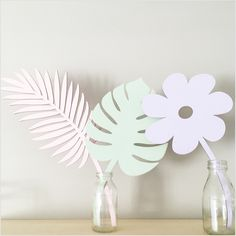 Image of Birch Plywood Painted Flower