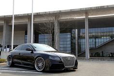 Audi A5 on HRE Wheels. Look at that stance on those deep wheels, GOD!