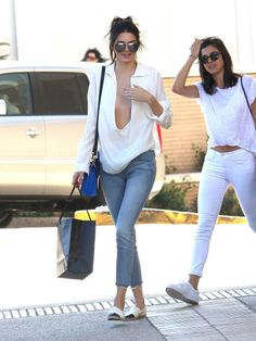 Kendall Jenner out shopping at Barney's New York in Los Angeles with a friend. See all of the star's best looks.