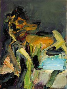 Frank Auerbach (British, b. 1931), J.Y.M Seated III, 1989. Oil on canvas, 40.5 x 30.5 cm.
