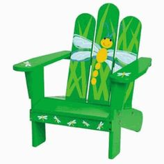 this is so cute.  i think i need one  chair with dragonflies.  does not have to be this type.  any outdoor chair.  even come and paint on the chair i have.