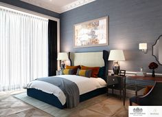 LINLEY Interior Design has produced design options for the interiors of a series of penthouses and apartments at Knightsbridge Private Park.#Interior #Design #Home #Decor #Bedroom #Decorating