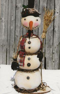 Primitive Snowball Snowman - PATTERN HHF515